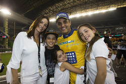 Champion of Champions Juan Pablo Montoya, celebrates his win with his family