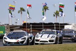 #68 Motorsports In Action McLaren GT4: Kenny Wilden, Rod Randall; #12 Bodymotion Racing Porsche Caym