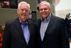 NASCAR Hall of Famer Junior Johnson and NASCAR Hall of Fame inductee Rick Hendrick