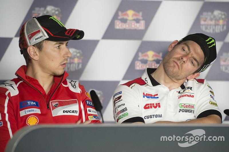 Хорхе Лоренсо, Ducati Team, и Кэл Кратчлоу, Team LCR Honda
