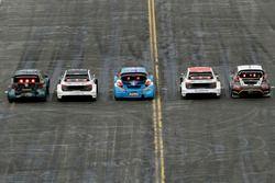 Guy Wilks, Loco World RX Team, VW Polo; Reinis Nitiss, EKS, Audi S1 EKS RX Quattro; Jean-Baptiste Du