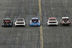 Guy Wilks, Loco World RX Team, VW Polo, Reinis Nitiss, EKS, Audi S1 EKS RX Quattro, Jean-Baptiste Dubourg, DA Racing, Peugeot 208, Toomas Heikkinen, EKS, Audi S1 EKS RX Quattro, Martin Kaczmarski, Ford Fiesta Guy Wilks (GB)