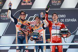 Podio: il vincitore della gara Dani Pedrosa, Repsol Honda Team, il secondo classificato Marc Marquez