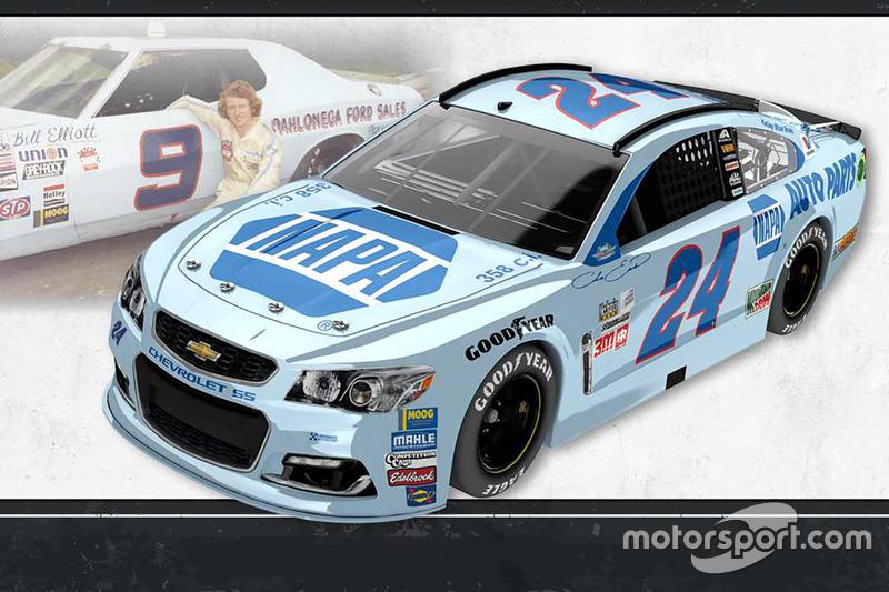 Throwback-Design: Chase Elliott, Hendrick Motorsports Chevrolet