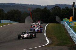 Ed Jones, Dale Coyne Racing Honda, Takuma Sato, Andretti Autosport Honda