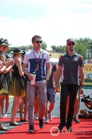 Paul di Resta, Williams ve Romain Grosjean, Haas F1