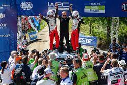 Winnaars Esapekka Lappi, Janne Ferm, Toyota Racing