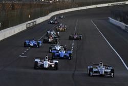 Tristan Vautier, Dale Coyne Racing Honda, Graham Rahal, Rahal Letterman Lanigan Racing Honda