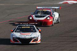 #43 RealTime Racing, Acura NSX GT3: Ryan Eversley; #16 Wright Motorsports, Porsche 911 GT3 R: Michae