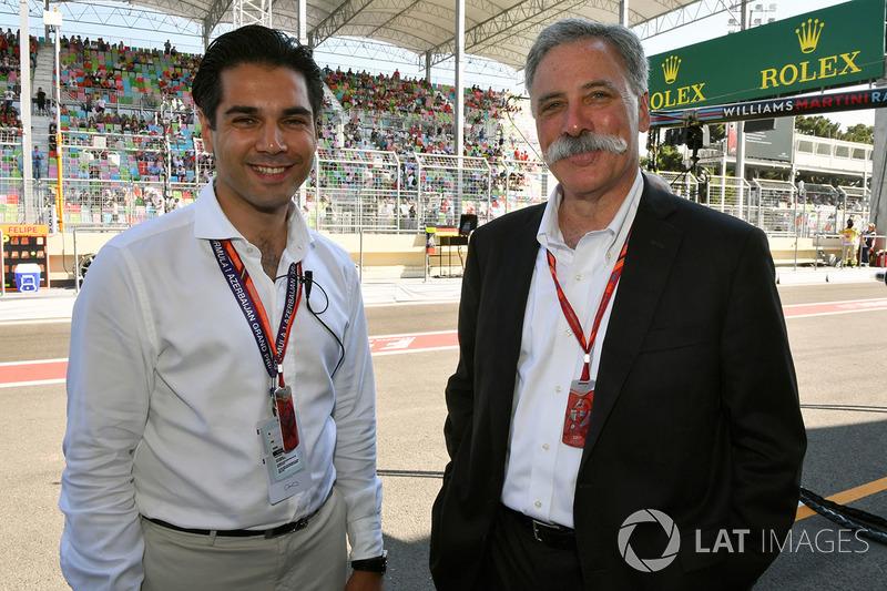 Arif Rahimov, Baku-Streckenpromoter, Chase Carey, Vorsitzender F1-Gruppe