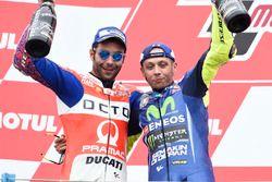 Podio: il secondo classificato Danilo Petrucci, Pramac Racing