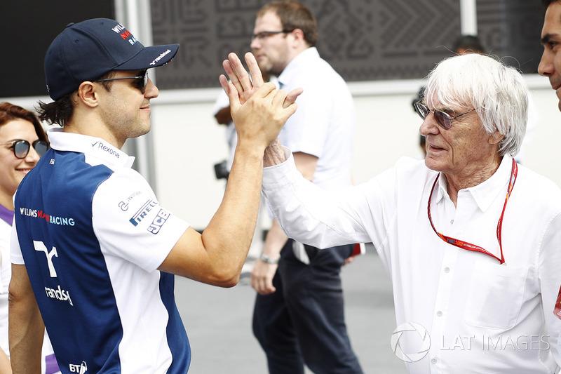 فيليبي ماسا، ويليامز وبيرني إكليستون، الرئيس الفخري للفورمولا واحد