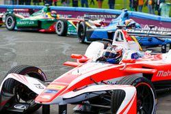 Felix Rosenqvist, Mahindra Racing; Sébastien Buemi, Renault e.Dams; Daniel Abt, ABT Schaeffler Audi