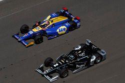 Josef Newgarden, Team Penske, Chevrolet; Alexander Rossi, Herta - Andretti Autosport, Honda