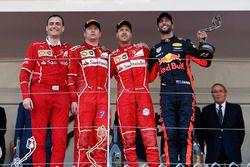 Podium: 1. Sebastian Vettel, Ferrari; 2. Kimi Räikkönen, Ferrari; 3. Daniel Ricciardo, Red Bull Rac
