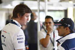 Rob Smedley, VCHefingenieur, Williams; Felipe Massa, Williams; Antonio Pizzonia