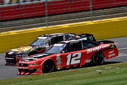 Ryan Blaney, Team Penske Ford and Ty Dillon, Richard Childress Racing Chevrolet