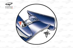 Williams FW28 front wing (cascadeless and short chord upper flap)