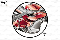 McLaren MP4-23 front wing central portion