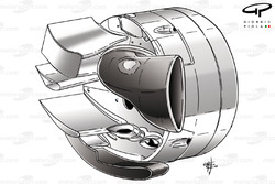 Williams FW32 rear brake duct