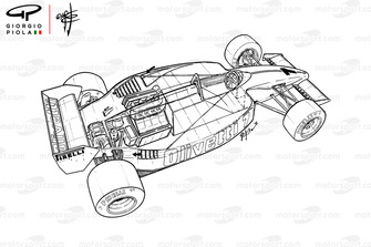 Vue de 3/4 de la Brabham BT55