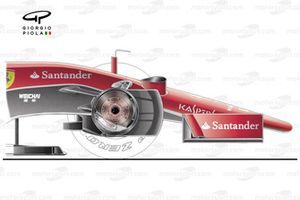 Ferrari SF15-T nose and brake design