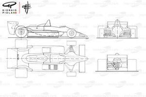 Lotus 79 1979 года: схематическое изображение в нескольких проекциях