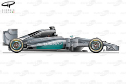 DUPLICATE: Mercedes W05 side view (launch)