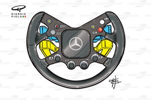 McLaren MP4-15 2000 Coulthard steering wheel