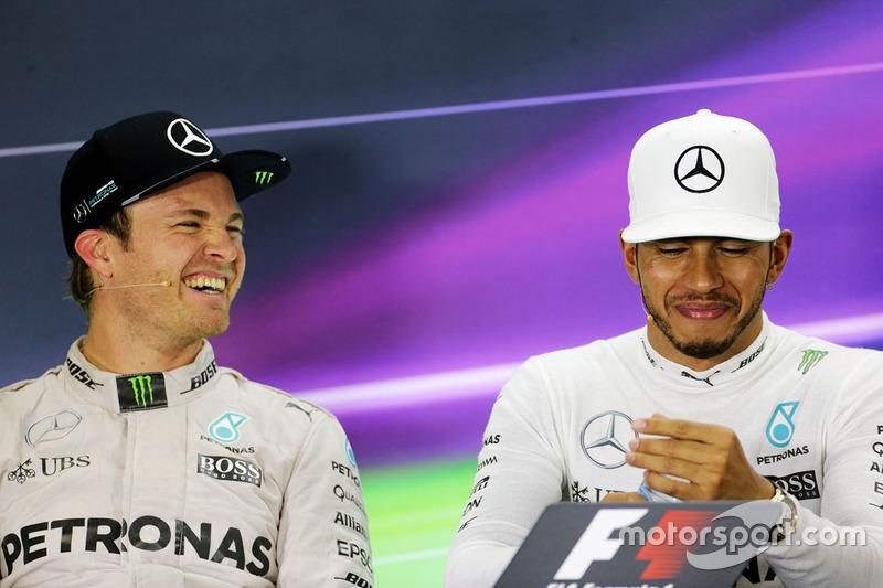 Nico Rosberg, de Mercedes AMG F1 en la Conferencia de prensa de la FIA con equipo compañero a Lewis