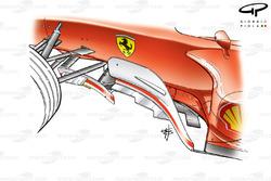 Déflecteurs de la Ferrari F2003-GA (654) (canard sur le plus petit des déflecteurs)
