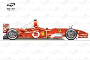 Ferrari F2003-GA side view