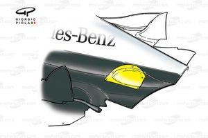 McLaren MP4-15 engine cover detail - Belgium
