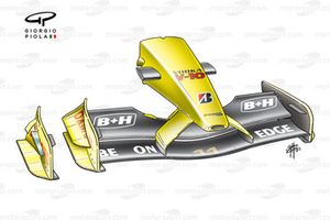 Jordan EJ13 2003 front wing and nose