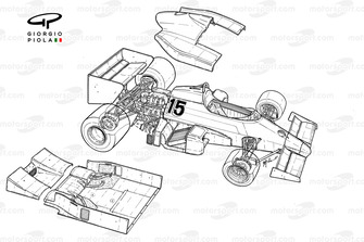 Renault RE40 1983 exploded-detail overview