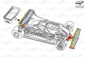 Подробная схема Ferrari 312T4, Гран При Монако