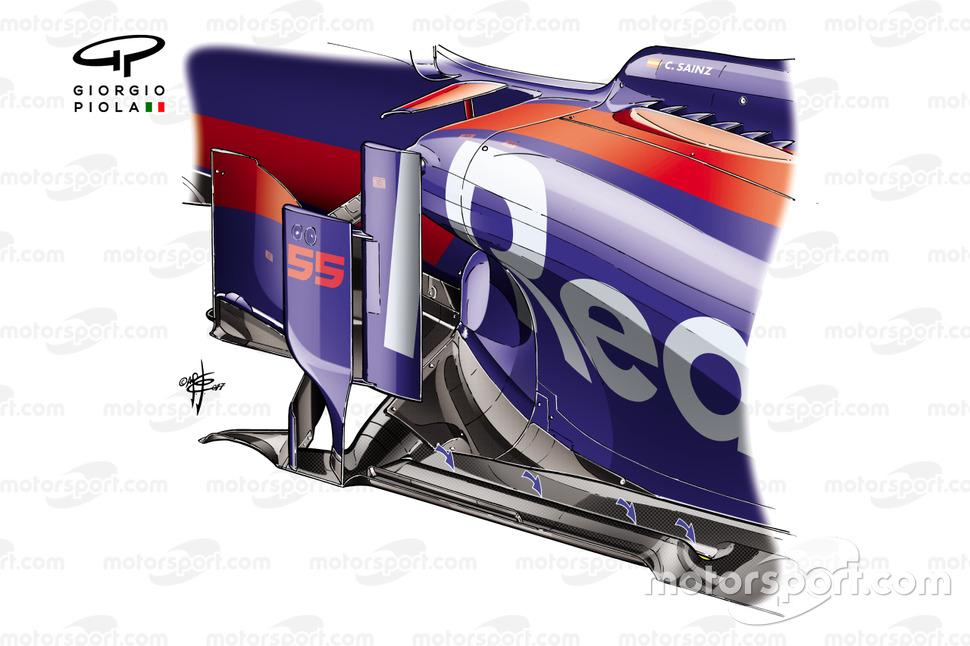 Detalhe do assoalho da Scuderia Toro Rosso STR12