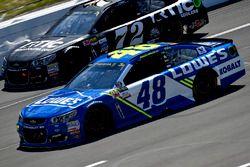 Jimmie Johnson, Hendrick Motorsports Chevrolet, Cole Whitt, TriStar Motorsports Chevrolet