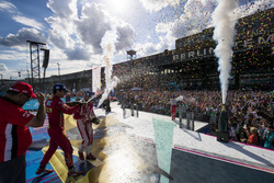 Lucas di Grassi, ABT Schaeffler Audi Sport, Nick Heidfeld, Mahindra Racing, e Felix Rosenqvist, Mahi