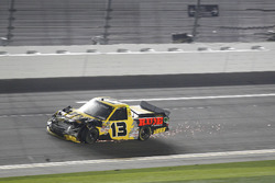 Cody Coughlin, ThorSport Racing Toyota dopo l'incidente all'ultimo giro