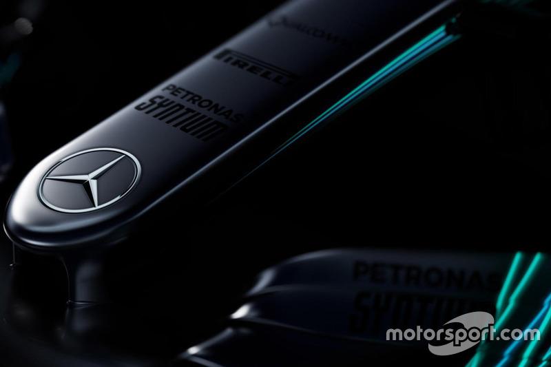 Le nez de la Mercedes AMG F1 W08 Hybrid