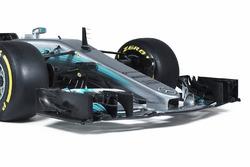 L'aileron avant de la Mercedes AMG F1 W08