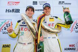 Podium: Race winners #99 ROWE Racing BMW M6 GT3: Jesse Krohn, Connor De Phillippi