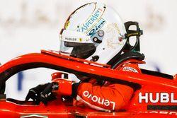Sebastian Vettel, Ferrari SF71H, parcheggia dopo essersi assicurato la pole position
