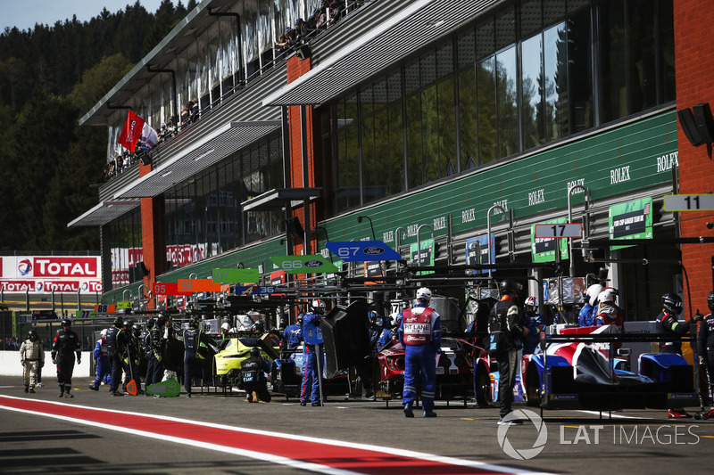 FIA WEC pit lane at Spa Francorchamps