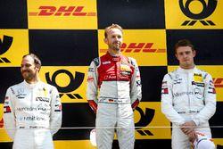 Podio: il vincitore della gara René Rast, Audi Sport Team Rosberg, il secondo classificato Gary Paffett, Mercedes-AMG Team HWA, il terzo classificato Paul Di Resta, Mercedes-AMG Team HWA