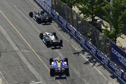 Jordan King, Ed Carpenter Racing Chevrolet, Josef Newgarden, Team Penske Chevrolet, Alexander Rossi, Andretti Autosport Honda