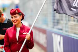 Qatar grid stewardess