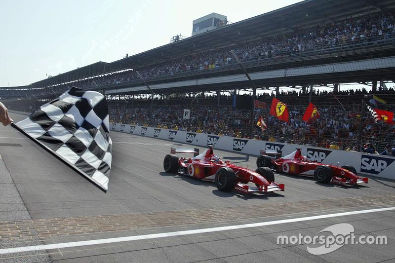 Indianapolis 2002, Michael Schumacher e Rubens Barrichello, Ferrari