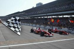 Indianapolis 2002, Michael Schumacher y Rubens Barrichello, Ferrari